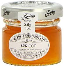 Apricot Jam Portion Control Tiptree Glass Carton Only (28g x 72)