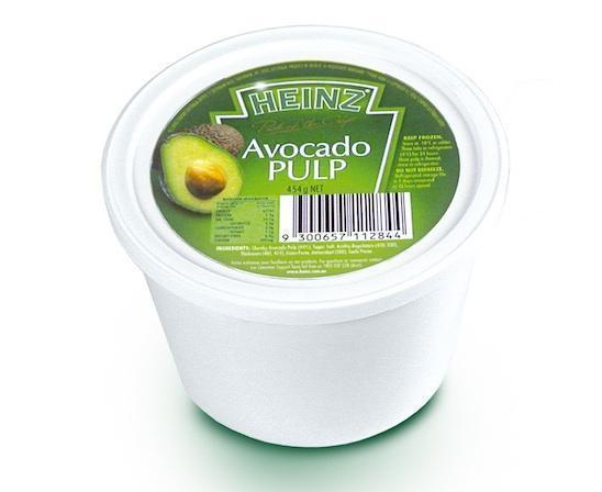 Avocado Pulp Frozen 454g Tub Heinz