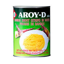 Bamboo Shoots Sliced 540g tins Aroy-D