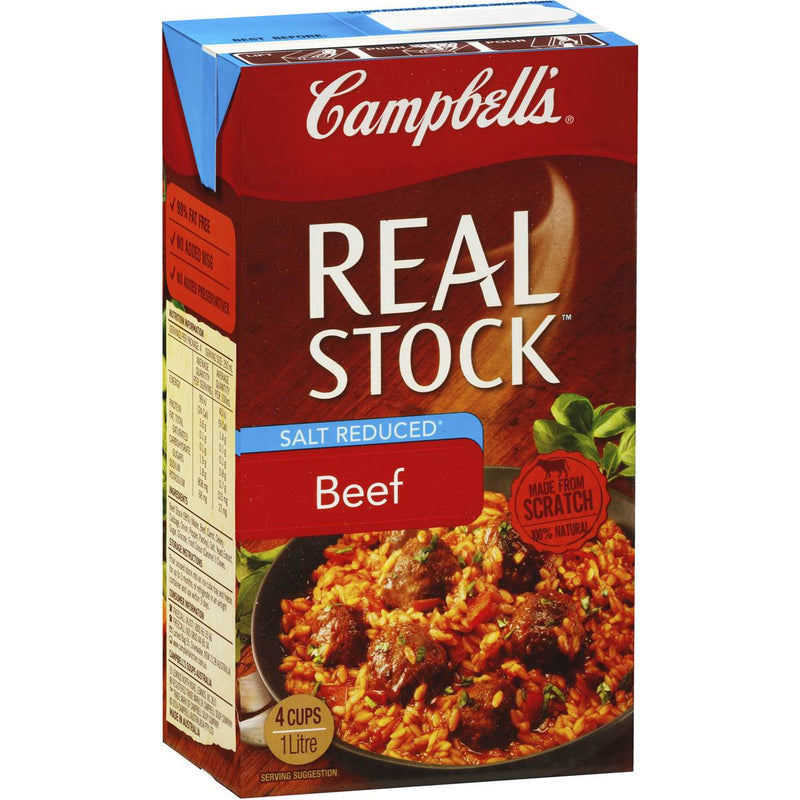 Real Beef Stock Liquid 1lt Campbells