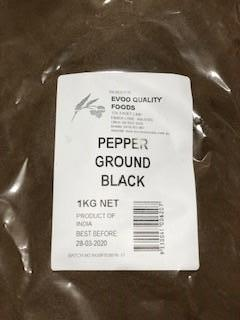 Black Pepper Ground 1kg Bag EVOO QF