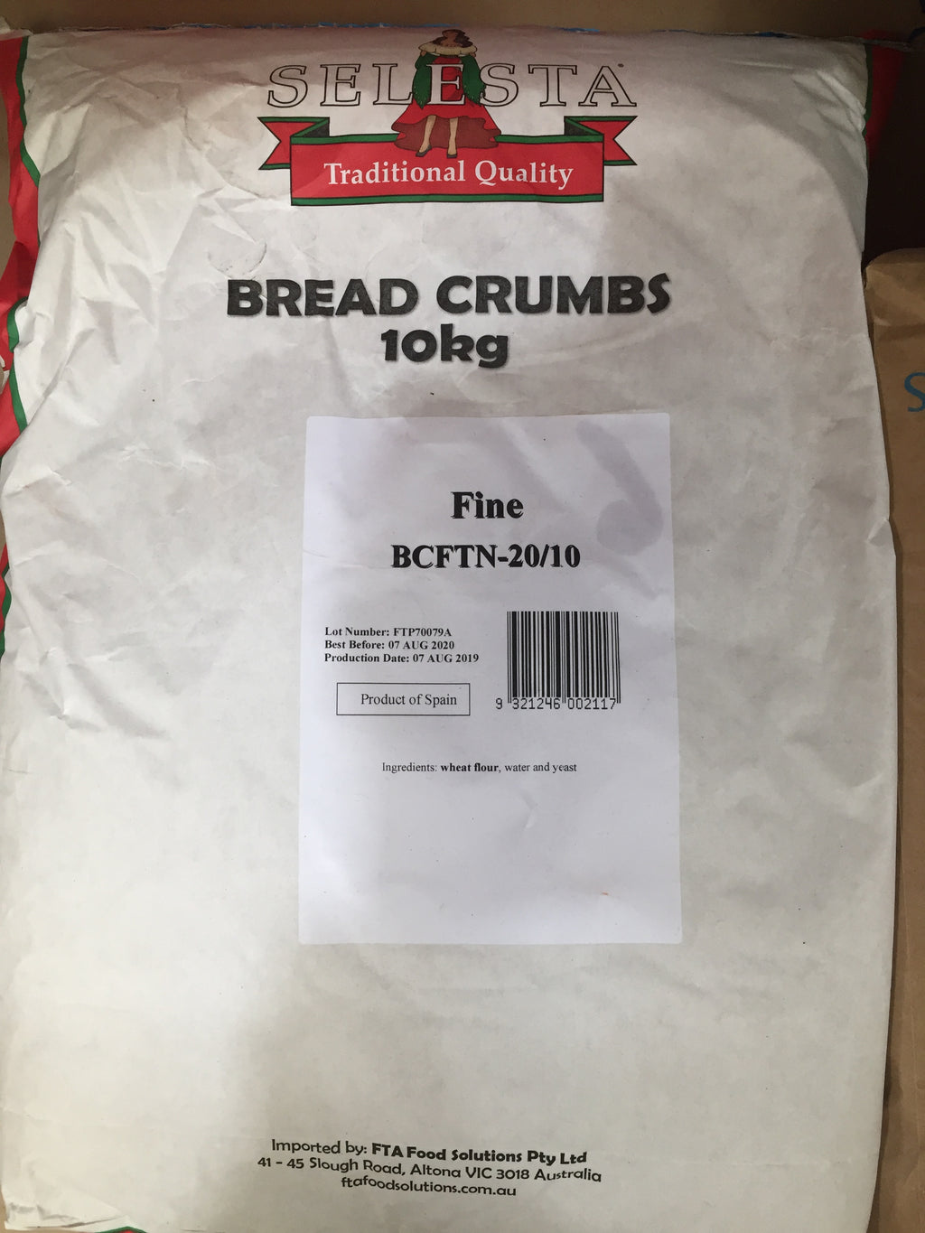 Breadcrumbs Fine 10kg Bag Selesta