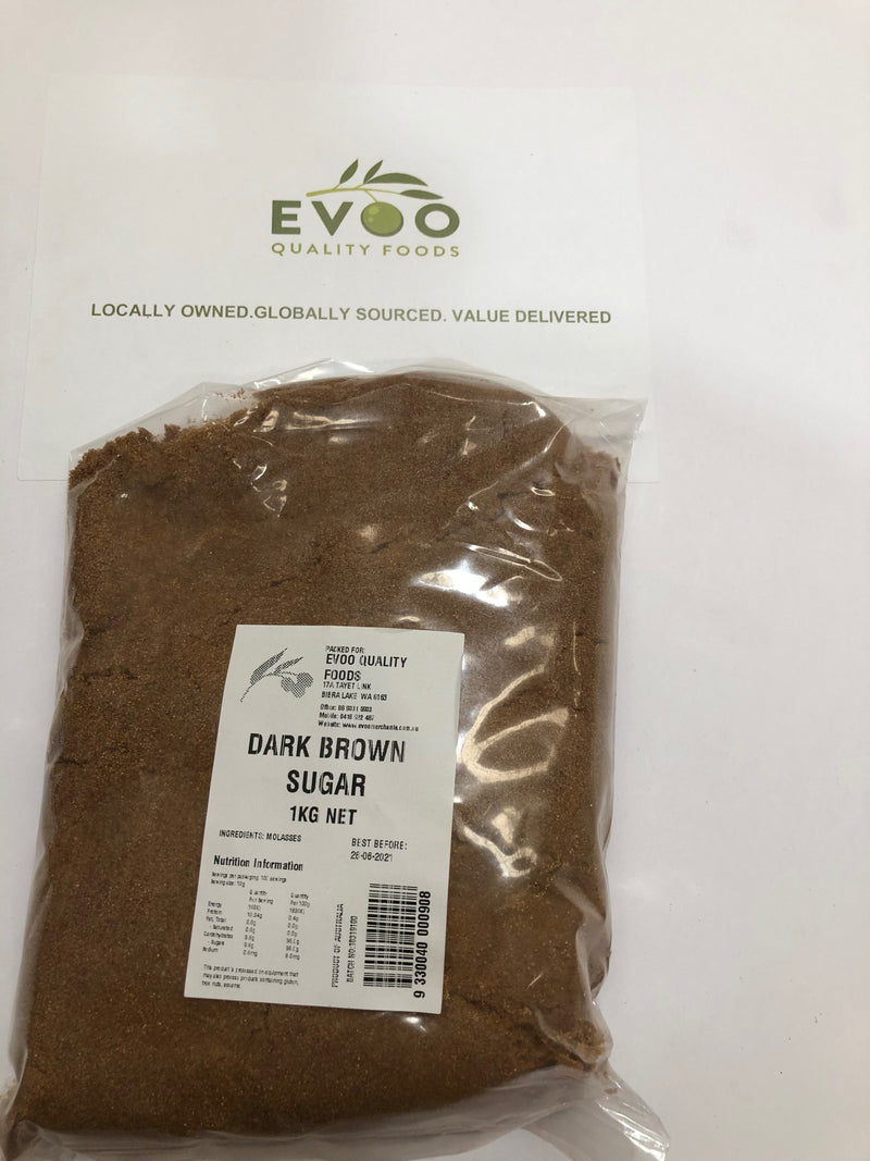 Dark Brown Sugar 1kg Bag EVOO QF