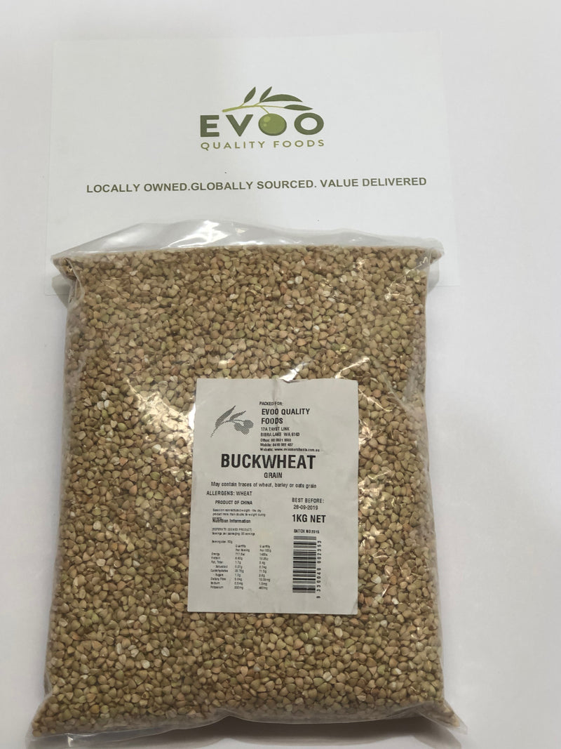 Buckwheat Whole Grain 1kg Bag EVOO QF