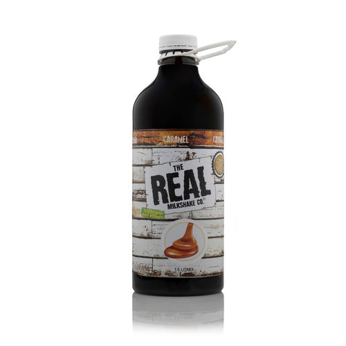 Caramel Milkshake Syrup 1.5lt Bottle The Real Milshake Co