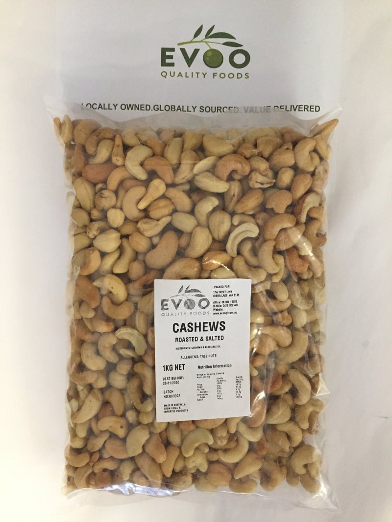 Cashew Nuts Raw (Crushed) 1kg Bag Evoo QF