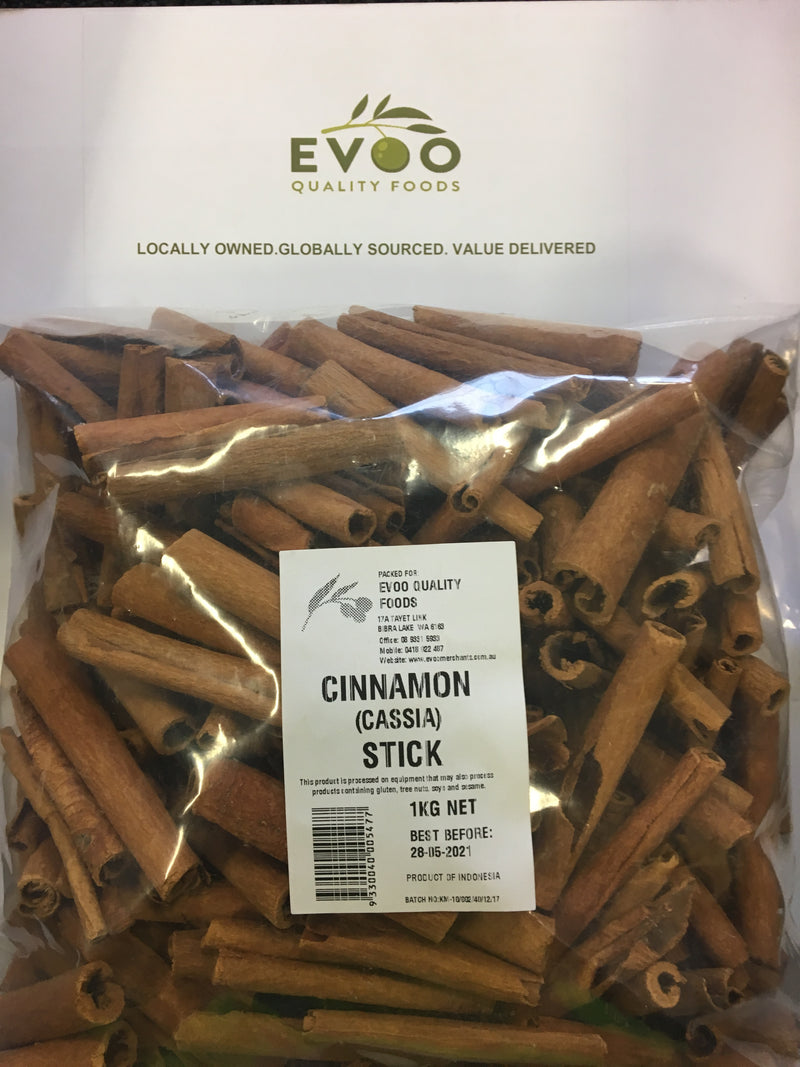 Cassia Sticks (Not Cinnamon Quills) 1kg Bag EVOO QF