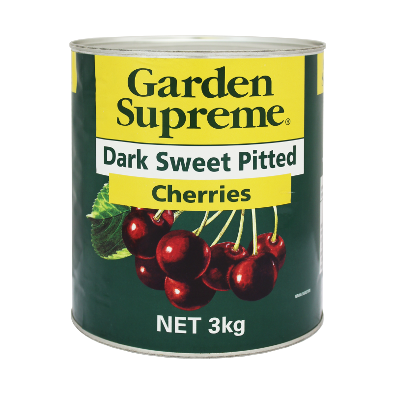 Dark Sweet Pitted Cherries 3kg Tin  Tin Riviana