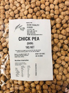 Chickpeas Whole Dried 1kg Bag EVOO QF