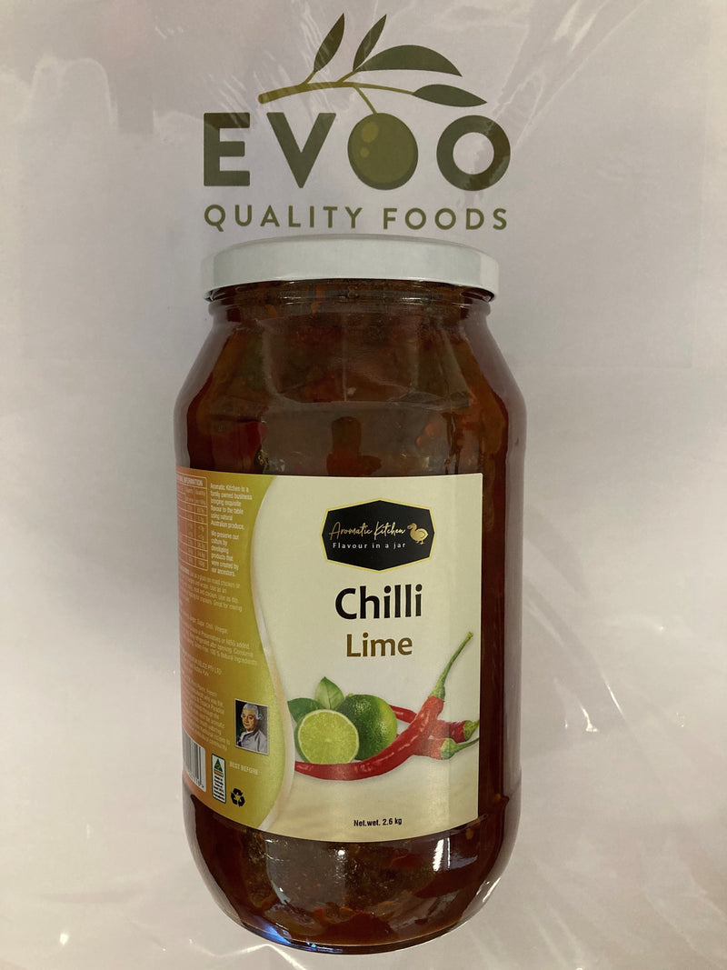 Chilli Lime Pickle 12 x 280gm jars Aromatic Kitchen - sold as carton