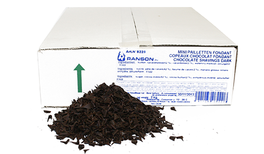 Dark Chocolate Shavings/ Flakes 2kg Box Ranson