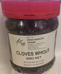 Cloves Whole 300g Tub EVOO QF