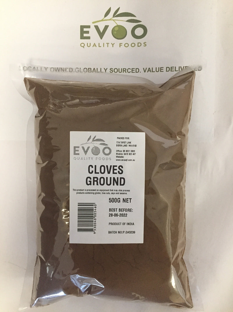Cloves ground 500gm bag EVOO QF