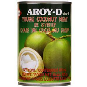 Coconut Flesh (in Syrup) 426g Tin Aroy-D