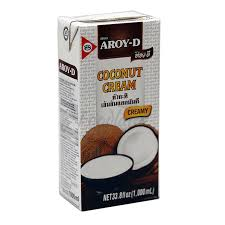 Coconut Cream 1L Aroy-D Tetra Pack