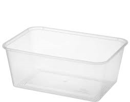 Clear Rectangular Container 1lt (500) (CR1000) Carton