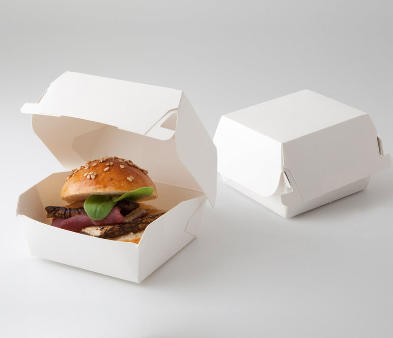White Burger Pack Box (500 Carton)   Tailored Packaging
