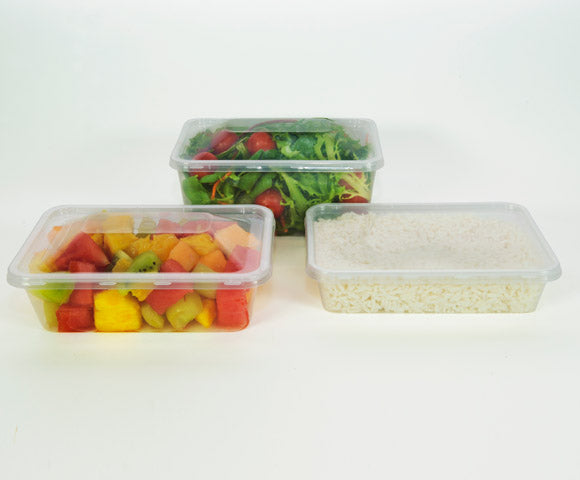 Clear Rectangular Container 500ml (CR500) 500 Carton Tailored Packaging