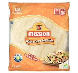 "Tortillas Corn Wraps 6"" (18pkts x 12pc) Mission (Code 2318) Gluten Free (Table White)"