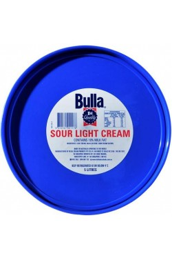 Sour Cream Light (5lt) Bulla Tub