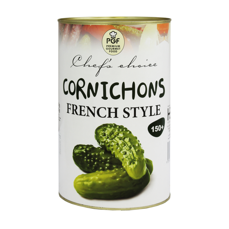 Cornichons 150+ (4.25kg) Tin (French Style) Chefs Choice