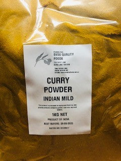 Curry Powder Mild Indian 1kg Bag EVOO