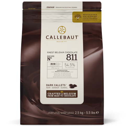 Dark Chocolate Callets 54.5% Callebaut - #811 (Bitter Sweet) 2.5kg