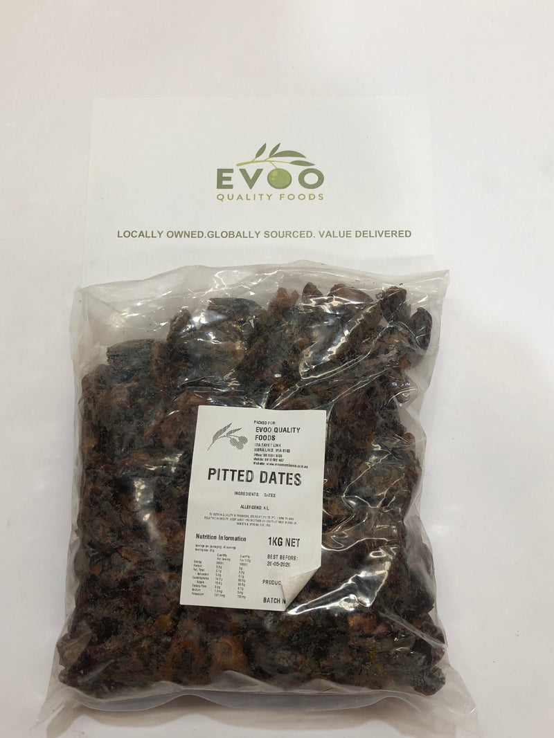 Dried Whole Pitted Dates 1kg Bag Iranian Product