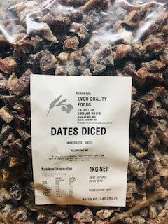 Dates Diced 1kg Bag (Pre Order) Evoo QF