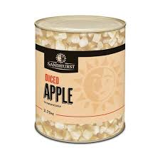 Apple diced A10 tin 2.75kg Sandhurst