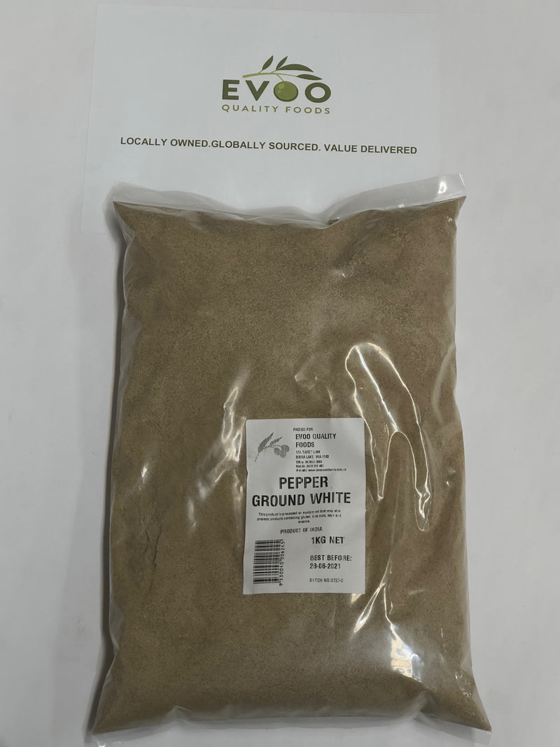 White Pepper Ground 1kg Bag