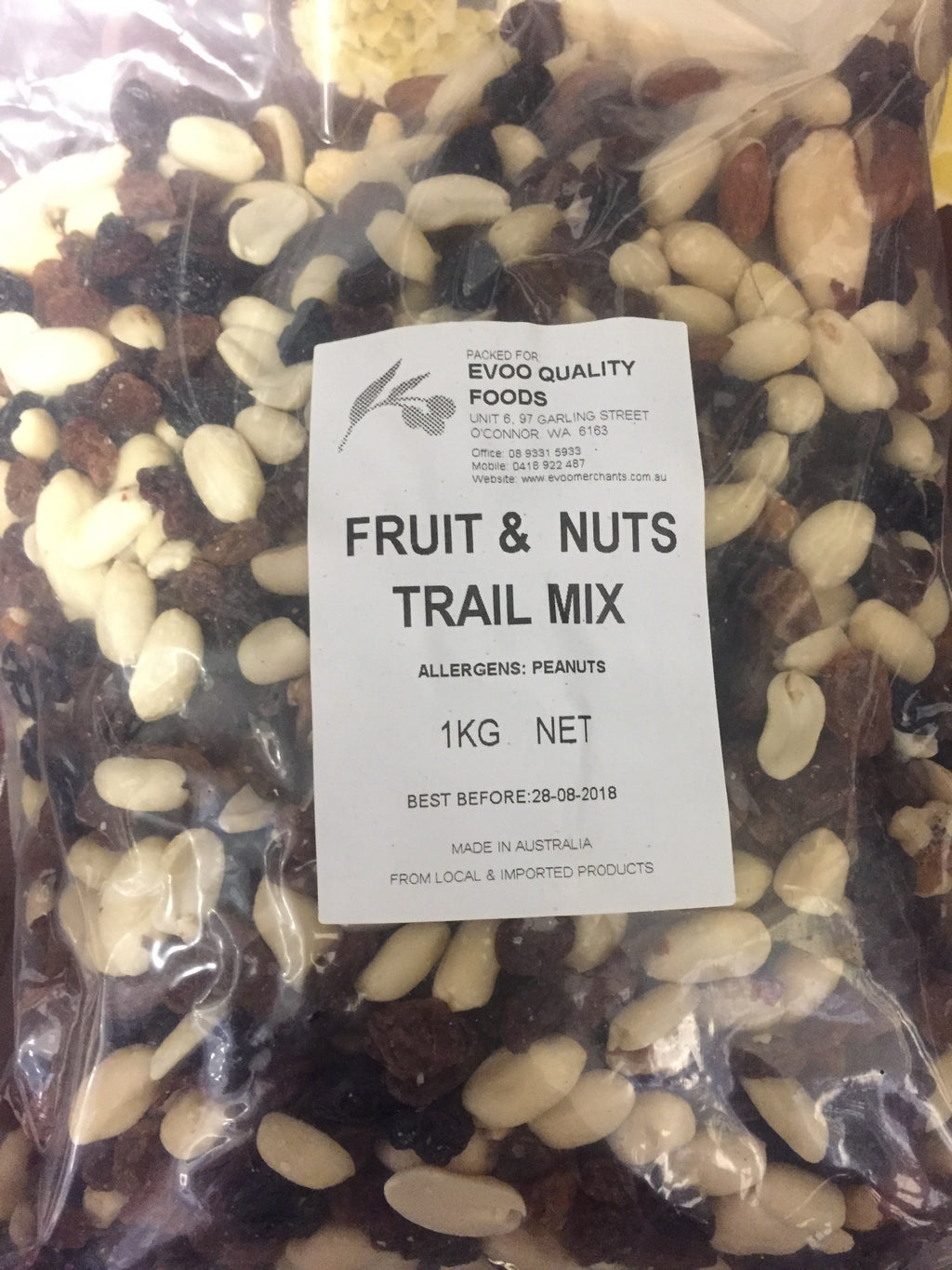 Fruit & Nut Mix Trail Mix 1kg Bag