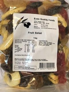 Fruit Salad Medley Dried 1kg Bag Evoo QF