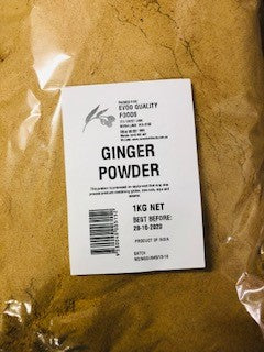 Ginger Powder / Ground 1kg Bag EVOO