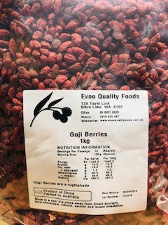 Goji Berries Dried 1kg Bag EVOO QF