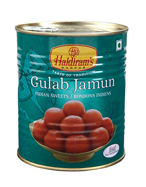 Haldiram Gulab Jamun 1kg Tin (Indian Sweet)