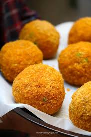 VEGAN Arancini Balls Truffle and Mushroom Gluten Free Frozen 90pcs (2 Days Pre Order) (Carton Only)