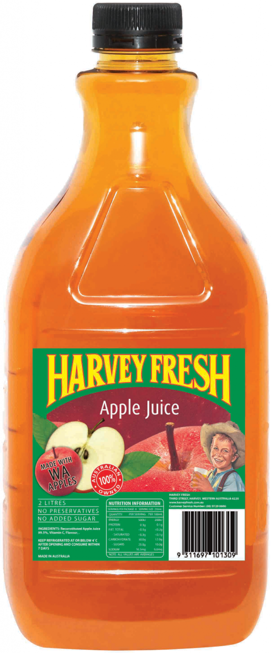 Apple Juice Long Life P.E.T 2lt Harvey Fresh
