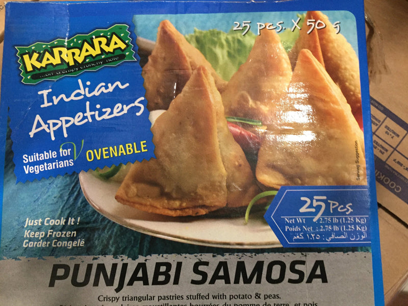 Punjabi Samosa 25pc x 50g (1.25kg) Box Karrara (Indian Vegetable)