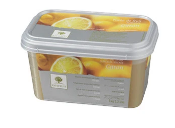 Lemon Crush Puree 1kg frozen Ravi