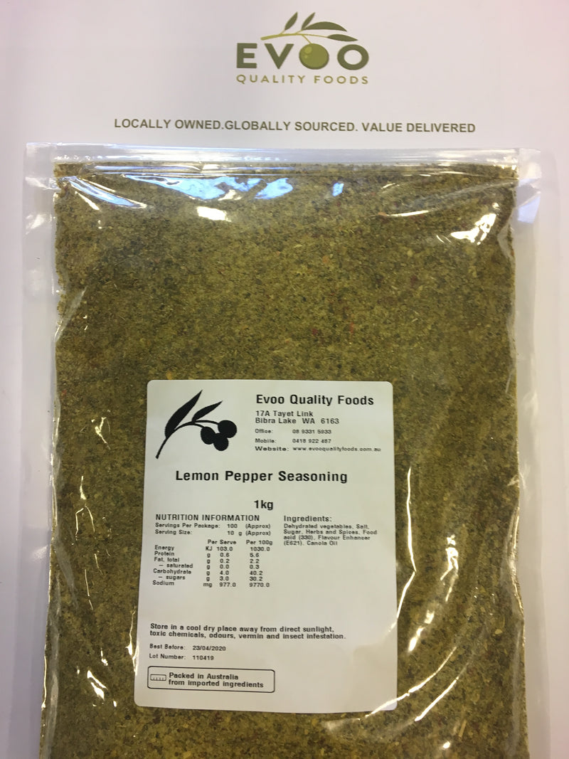 Lemon Pepper Seasoning 1kg Bag