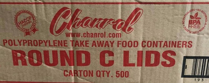 Clear Round Lid Medium 500 (CLID) Carton Charnol #01CLID