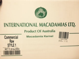 Macadamia Whole Raw Bulk 11.34kg (Style 1) Box