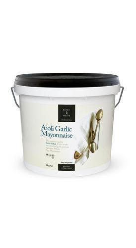 Mayonnaise Aioli Garlic 10kg Tub Birch & Waite