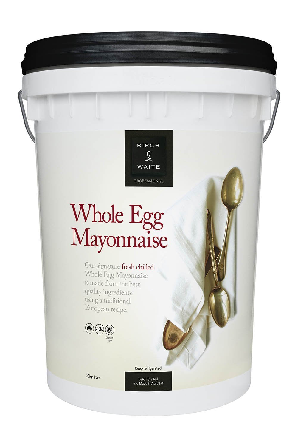 Mayonnaise Whole Egg 20kg Tub Birch & Waite