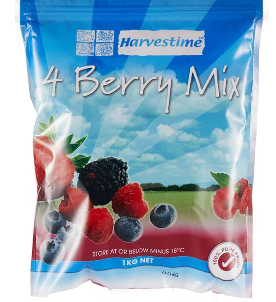 4 Mixed Berries 1kg Bag Harvestime