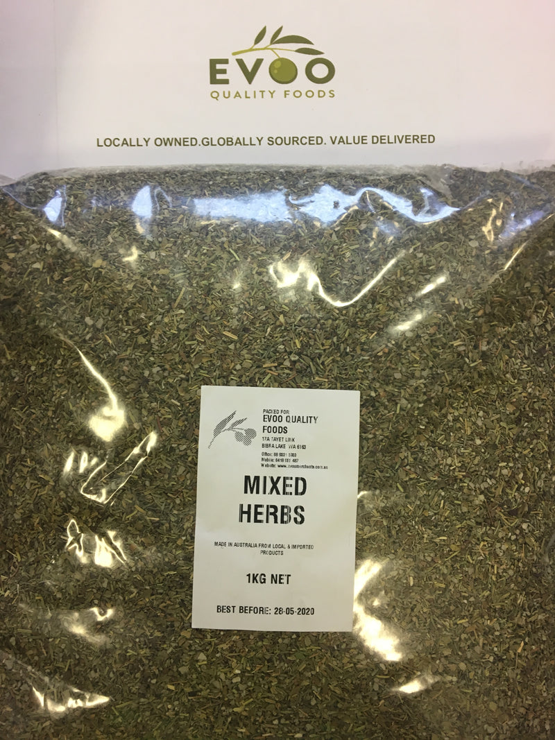 Mixed Herbs Dried 1kg Bag EVOO QF