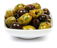 Mixed Pitted Marinated Olives 20kg (NDW15kg) (Chilli, Garlic, Rosemary in Canola Oil) EVOO