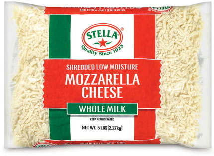 Shredded Mozzarella 2.26kg Bag Stella