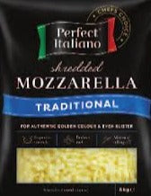 Shredded Mozzarella Carton (2 X 6KG) Perfect Italiano